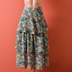 &Other Stories Tiered Frills Prairie Blossom Skirt